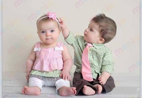 خرید سیسمونی نوزاد دوقلو دختر و پسر