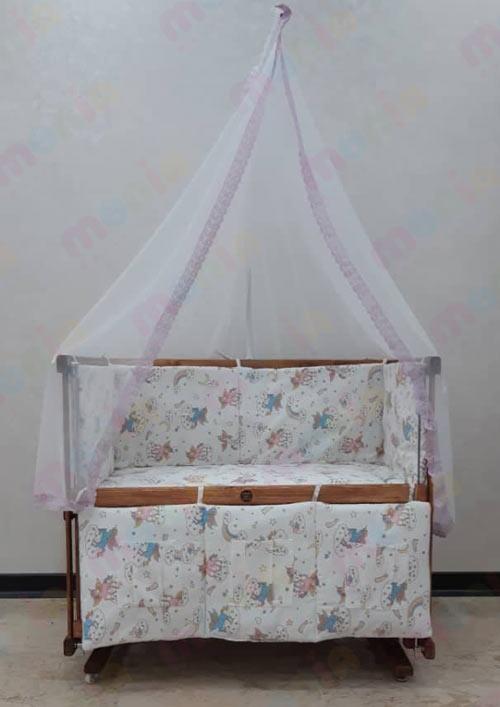 خرید اینترنتی گهواره چوبی نوزاد